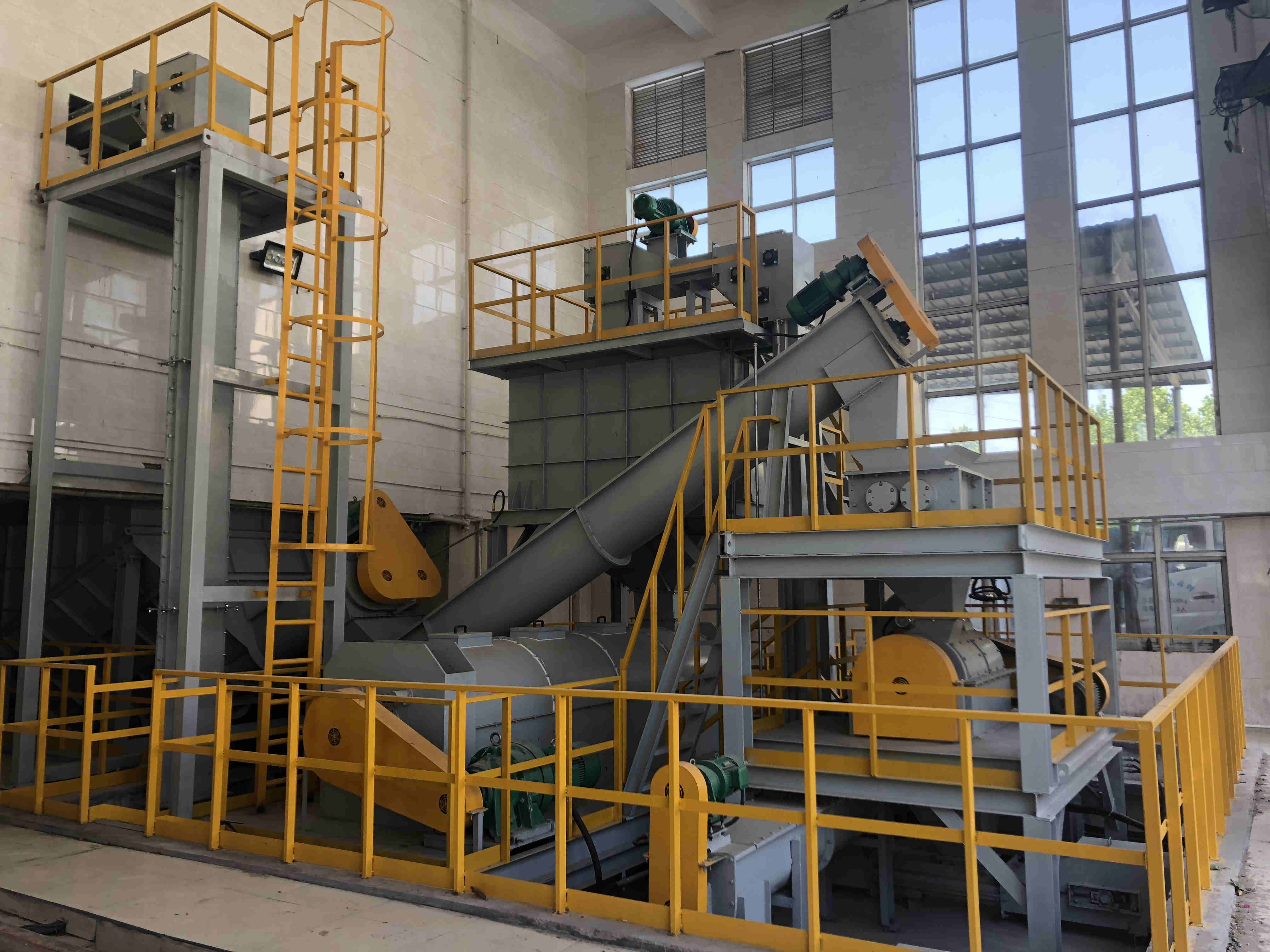 河南bob客户端ios环保科技有限公司-管城区100吨厨余垃圾处理项目正式投入运行!